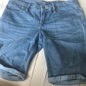 Light Blue Bermuda Style Jean Shorts